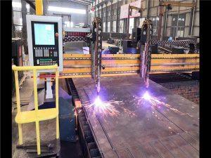 Màquina de tall de plasma de gantry de doble impulsió CNC Línia de producció de faig H Sistema del CNC d'hiperterm